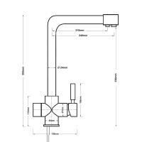 Смеситель с краном для чистой воды Барьер BWT 3L
